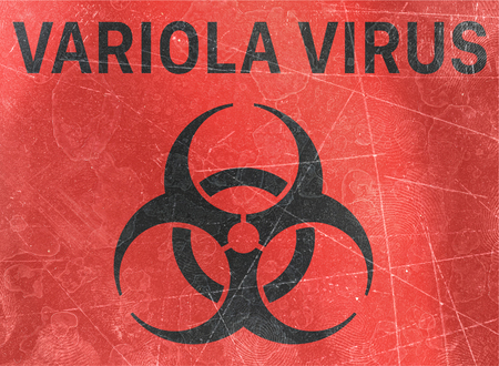 Variola virus. Signs of biological hazards, biohazards, referring to biological substances that pose a threat to the health of living organisms, primarily that of humans. Viruses and bacteria Banco de Imagens
