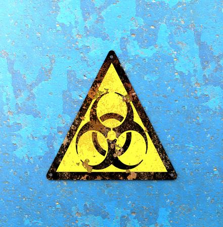 Avvertimento per rischi biologici, rischio biologico, riferito a sostanze biologiche che rappresentano una minaccia per la salute degli organismi viventi, in primis quella dell'uomo. Virus e batteri
