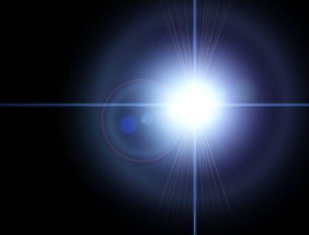 Światła i gwiazdy w nocy. Efekt załamania soczewki. Gwiazdy na niebie. Obserwuj ciała niebieskie, nowe układy słoneczne Zdjęcie Seryjne