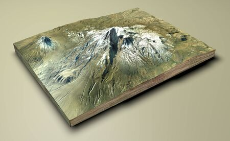 Aerial view of Mount Ararat, Agr Dag .