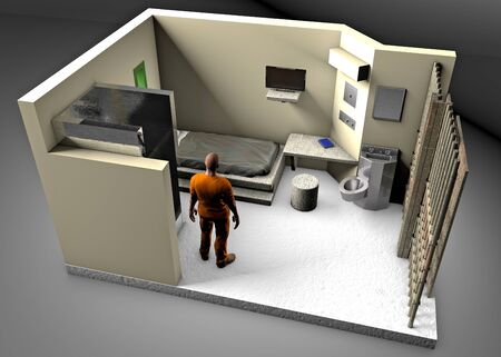 3d reconstruction of a prison cell