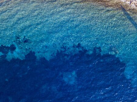 Aerial view of the sea, Adriatic sea, Montenegro
