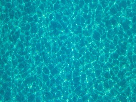 Aerial view of a sandy beach, reflections of the sun. Texture and background. Pool