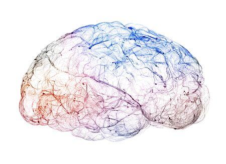 Vista de las sinapsis. Conexiones cerebrales. Neuronas y sinapsis. Comunicación y estímulo cerebral. Circuito de la red neuronal, enfermedades degenerativas, Parkinson. Render 3d
