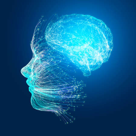 Neurology, philosophy, medicine of the future: neural connections, the development of thought and reflection, how to develop the infinite possibilities of the brain and mind. Human anatomy. Digital re