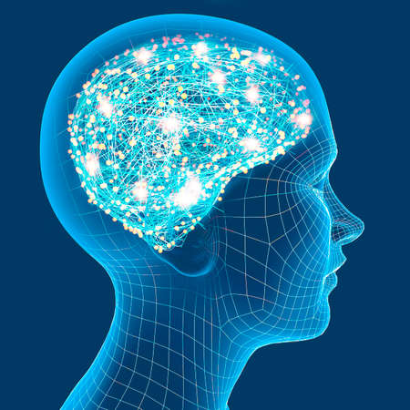 Neurology, philosophy, medicine of the future: neural connections, the development of thought and reflection, how to develop the infinite possibilities of the brain and mind. Person profile, human ana
