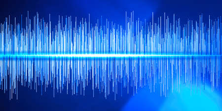 Sound waves, digital equalizer, frequencies. Music and radio, sound of the voice. Hearing and perception of sound waves. Hearing difficulties. Deafness