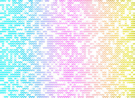 Abstract texture in the shape of an arrow, wave. Rainbow colored. Decorative pattern for fabrics and walls. Abstract art