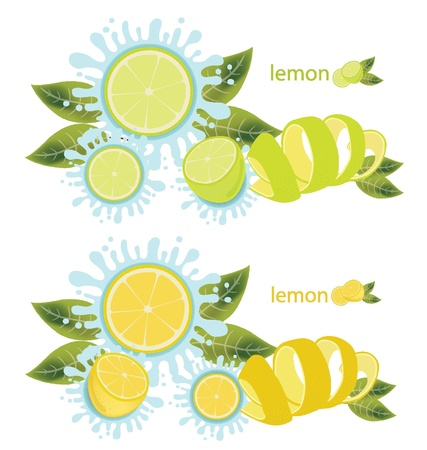 limon: Lemon splash vector illustration Illustration