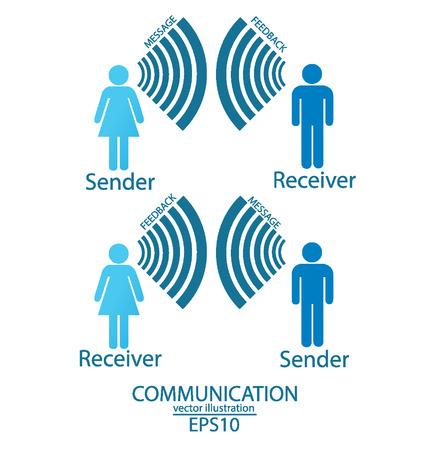 Концепция коммуникации вектор подключение Иллюстрация Иллюстрация