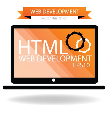 Web development concept  Stock Vector - 24767429