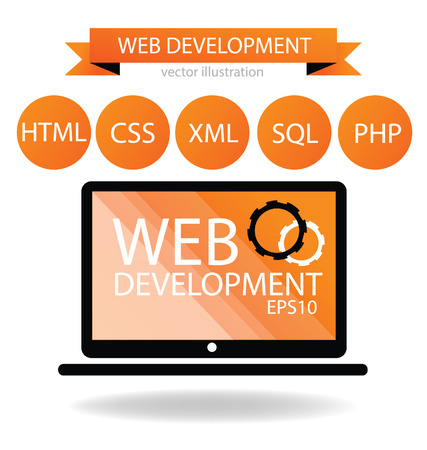 website words: Web development concept