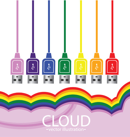 Cloud computing concept  Vector illustration Stock Vector - 24767414