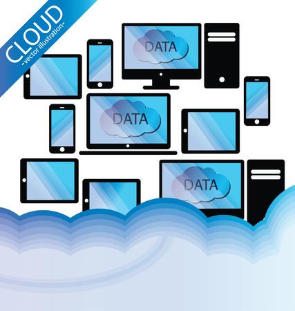 Cloud computing concept  Vector illustration Stock Vector - 24767415