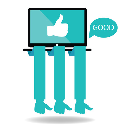 Social media  Hand signs vector  Good concept  Vector