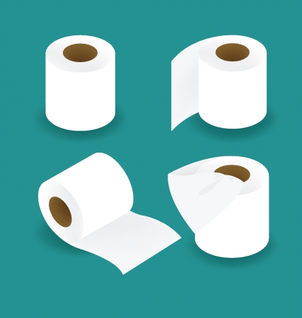 loo: Toilet paper set vector illustration Illustration