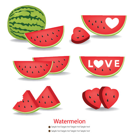 Watermelon vector illustration Illustration