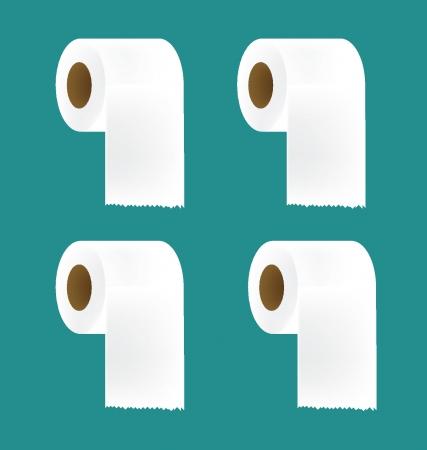 papel de baño: Papel higiénico establece ilustración vectorial Vectores