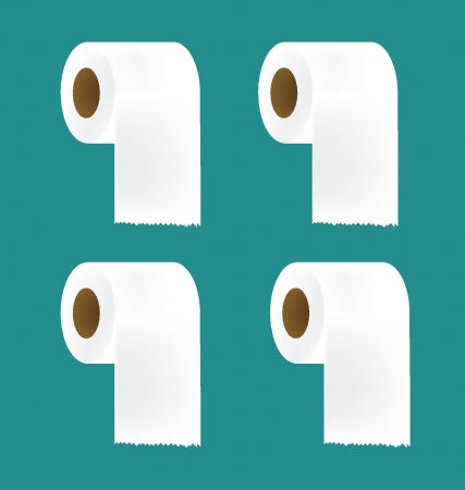toilet paper: Toilet paper set vector illustration Illustration