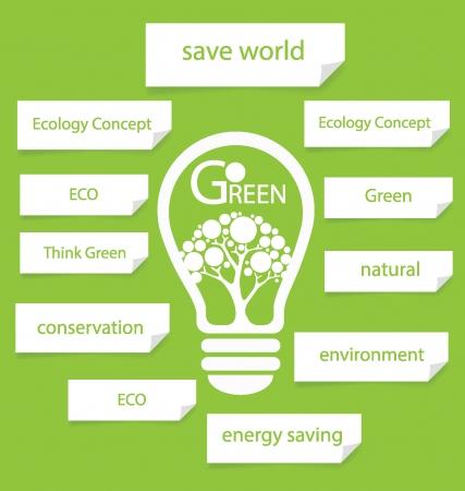 Перейти зеленый векторные иллюстрации Дизайн шаблона Диаграмма