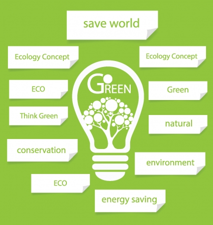 Go green  Design Template  Diagram vector illustration