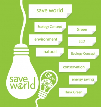 save energy: Save world  Design Template  vector illustration  Illustration