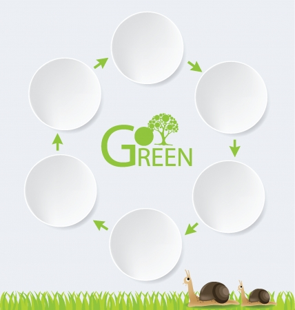 Go green  Design Template  Diagram vector illustration  Vector