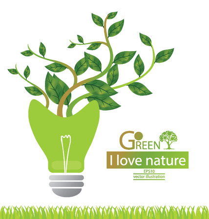 Green concepts save energy  save world  vector illustration  Vector
