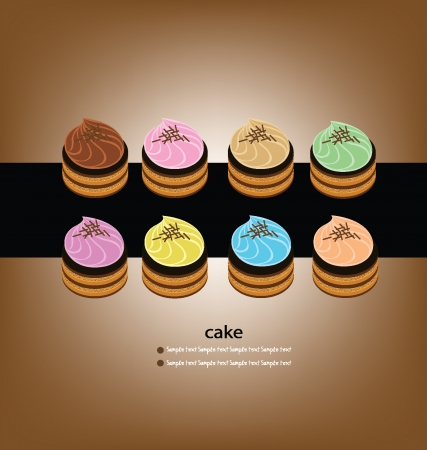 cake vector illustration Vector