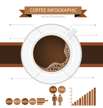 sleepy woman: Coffee cup  info graphic Illustration