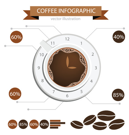 Coffee cup  info graphic  Illustration