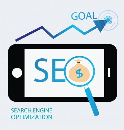 keywords advertise: search engine optimization Illustration  Illustration