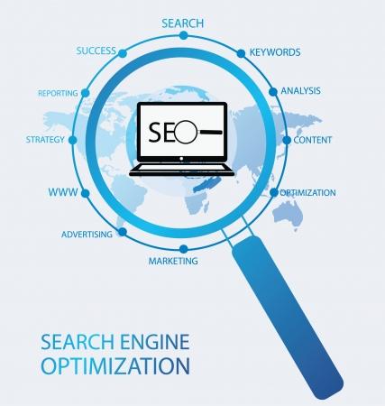 search engine optimization Illustration  Illustration