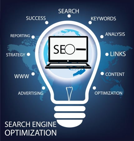 search engine optimization Illustration  Illustration