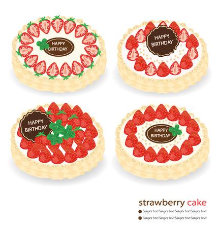 pastel feliz cumplea�os: pastel de cumplea�os feliz ilustraci�n