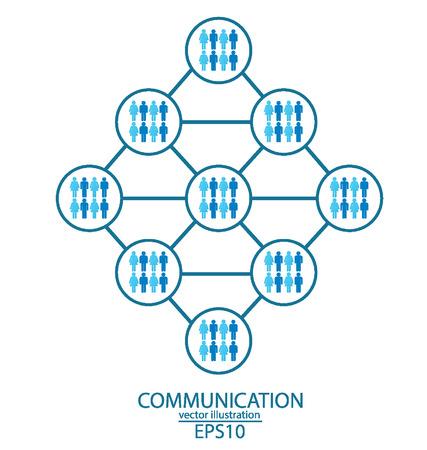 feedback link: communication concept,  connection  vector Illustration