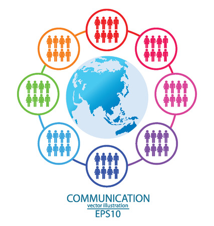 communication concept,  connection,  Modern globe  vector Illustration  Vector
