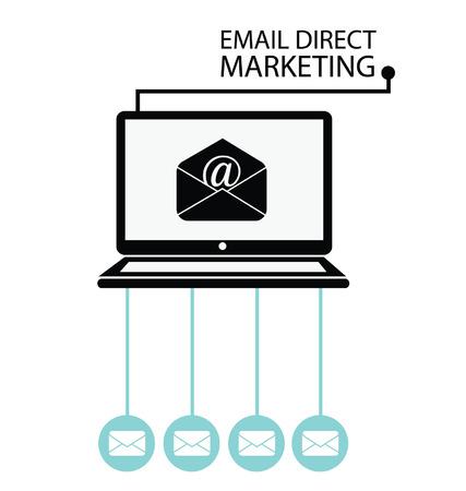 multilevel: email direct marketing, communication concept, vector Illustration  Illustration