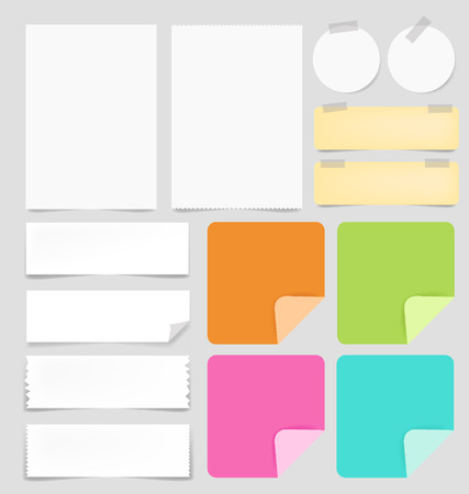 Vector paper and post-it collection Vector