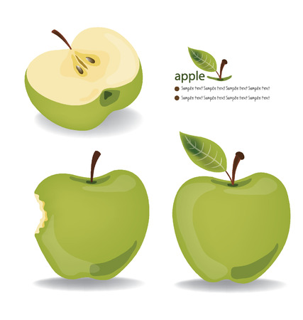 bite apple: apple vector illustration Illustration