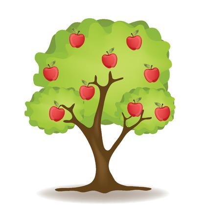 arbol de manzanas: Apple Tree ilustración vectorial