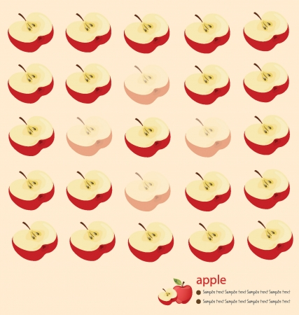red apple: pattern of red apple