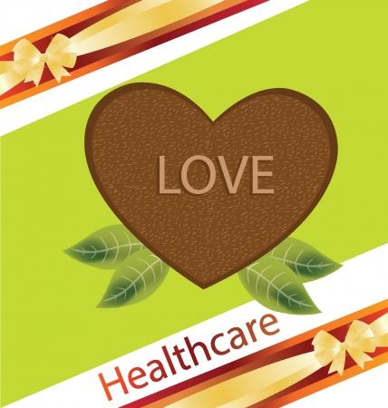 garden stuff: Shape of heart, Kiwi vector illustration Illustration