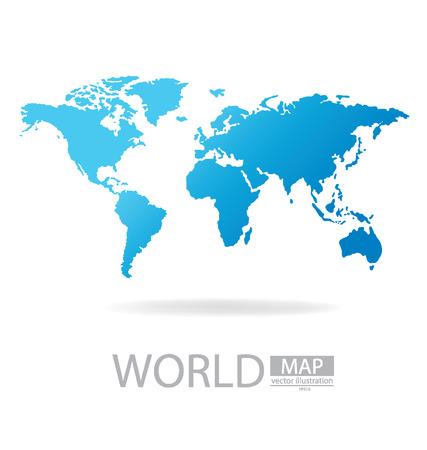 global map: World Map vector Illustration Illustration