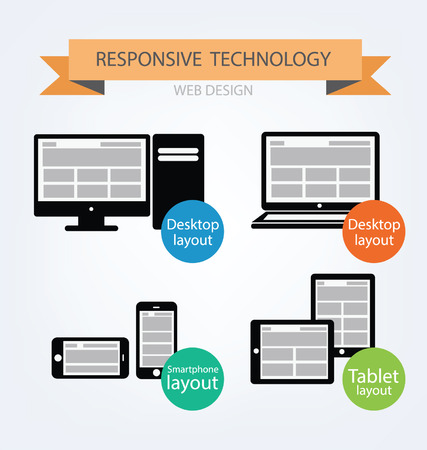 fully: Responsive Web Design  Vector