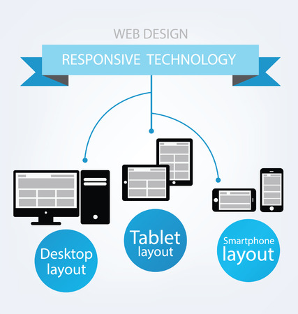 responsive: Responsive Web Design  Vector