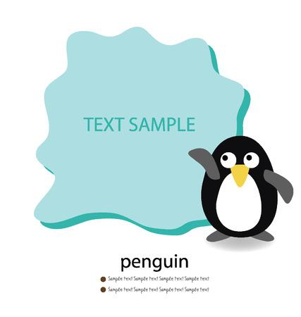 Penguin  Card vector illustration  Vector