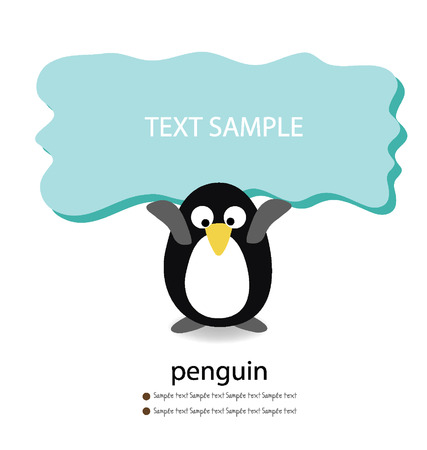 Penguin  Card vector illustration  Vector