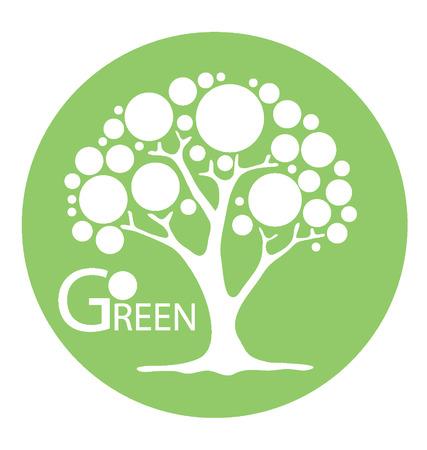 broad leaved tree: Go green concept,  Tree vector illustration  Illustration