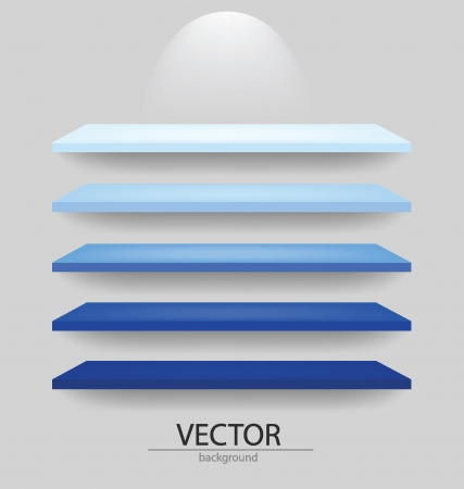 shelf for exhibit  Vector illustration  Vector